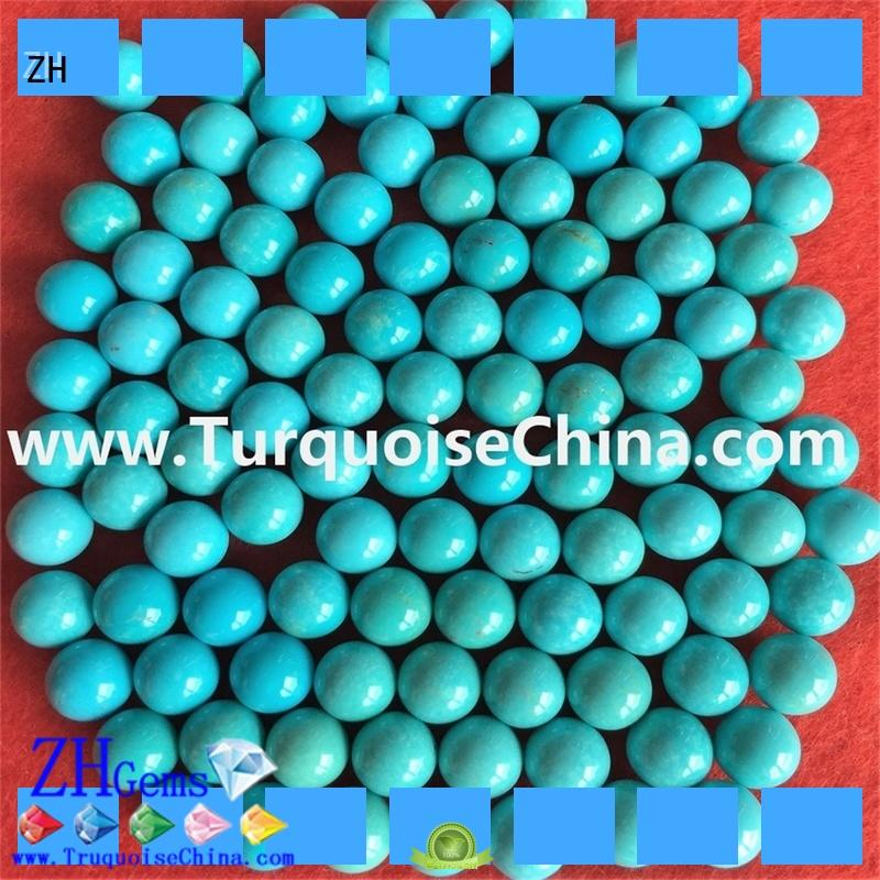 ZH good quality authentic turquoise beads supplier for necklace