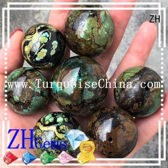 great turquoise stone beads reliable supplier for ring