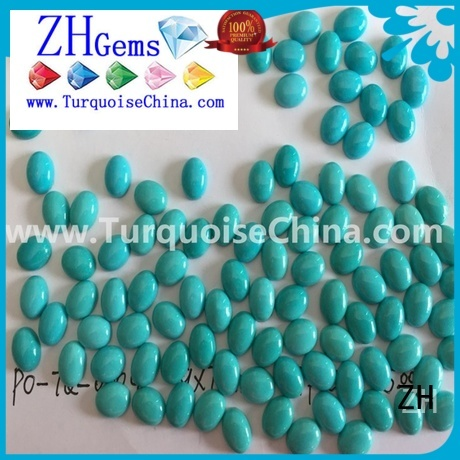 ZH top quality sleeping beauty turquoise cabochon supply for ring