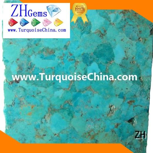 ZH turquoise stone rough reliable supplier for necklace