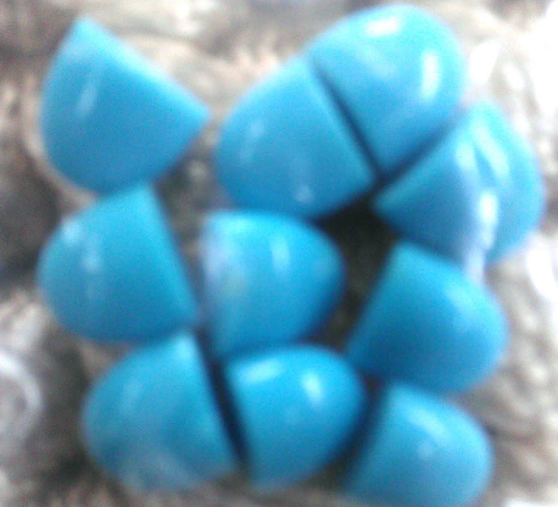 Sleeping beauty clean Turquoise Tongue Beads