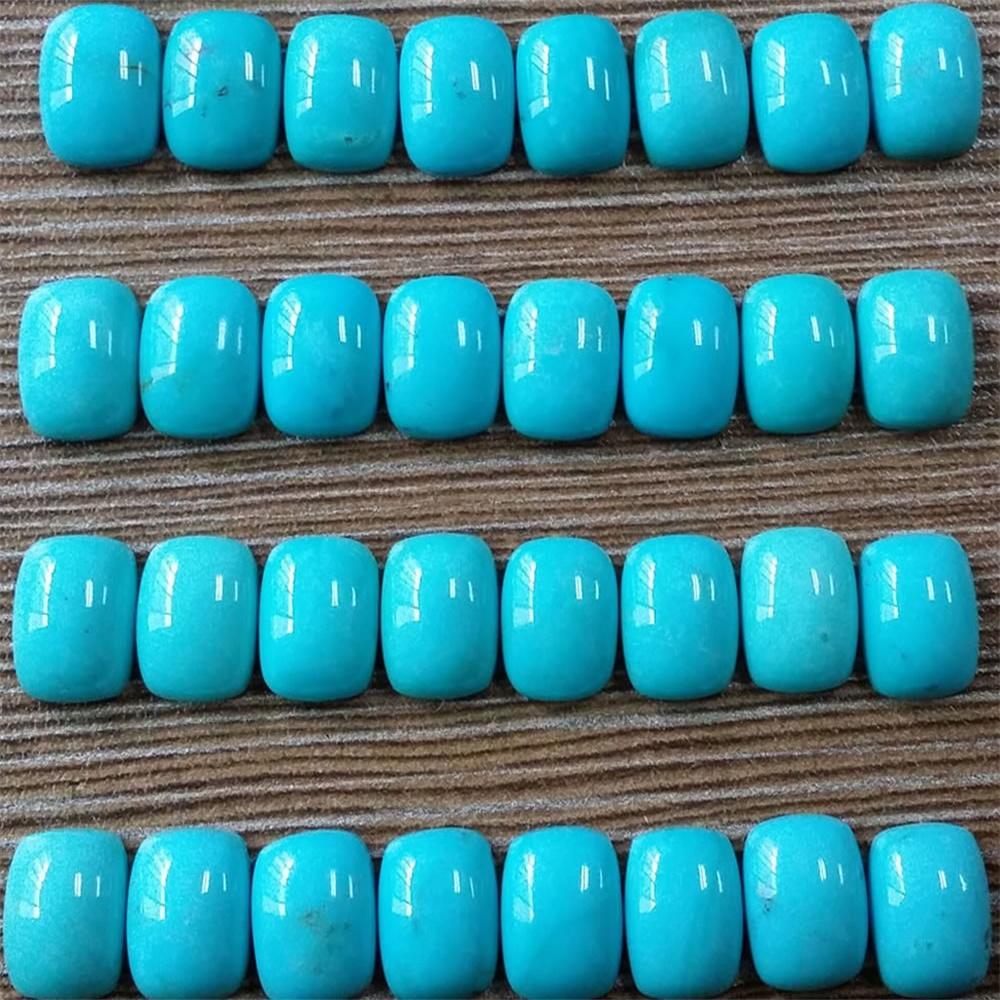 Sleeping Beauty Turquoise Cushion cabochons