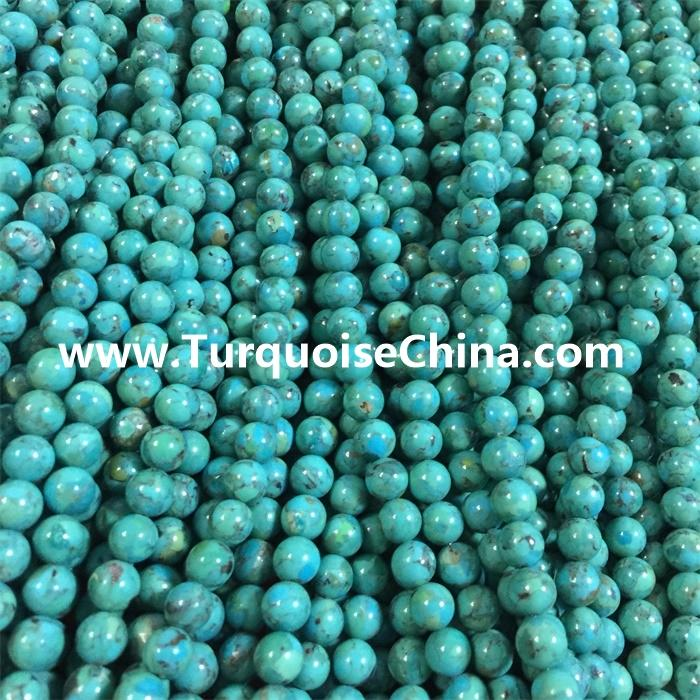 Natural Turquoise Compressed beads