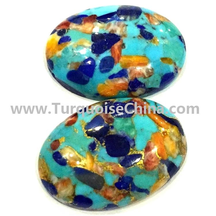 Natural Compressed Turquoise cabochon, naturally turquoise cabs