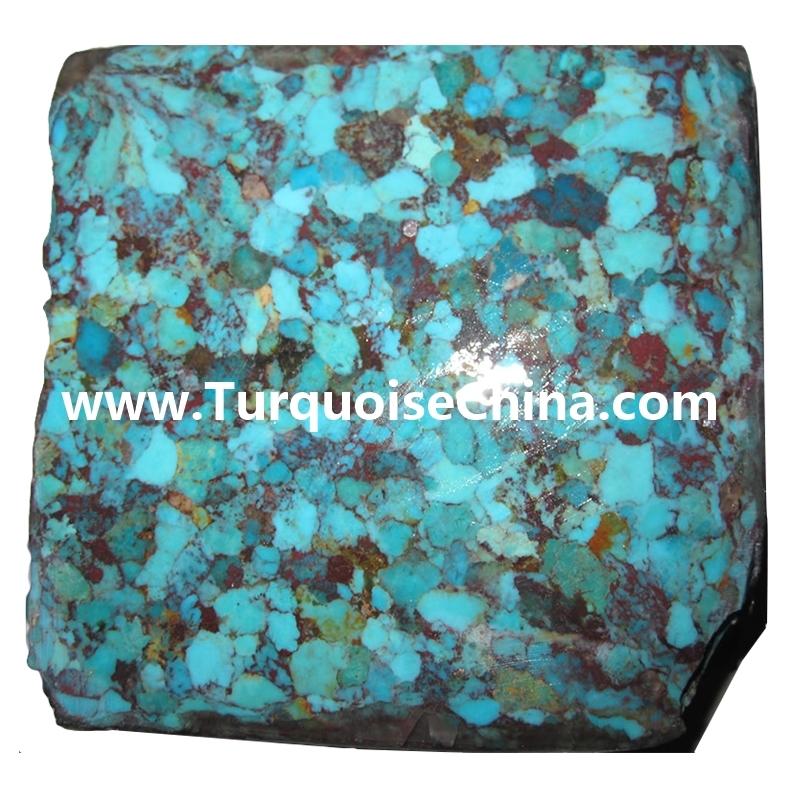 Block Big Size Turquoise Natural Stone Turquoise bricks wholesale