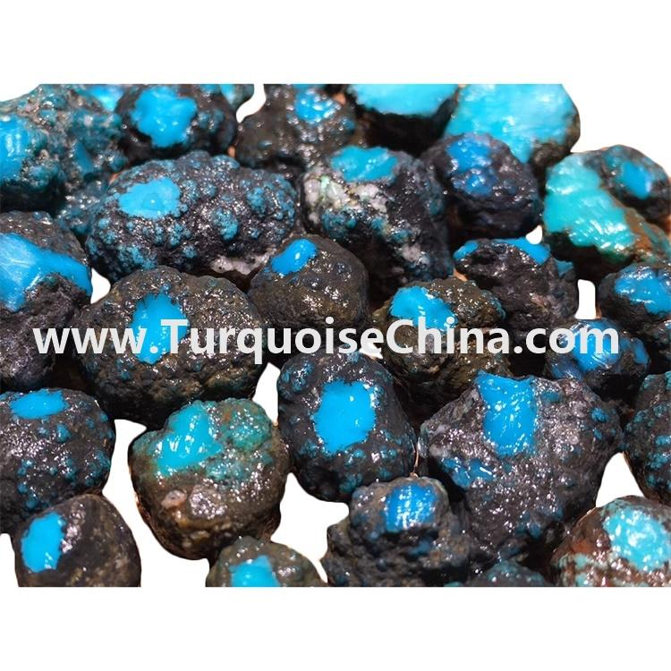 Rarely genuine top bule natural turquoise rough material