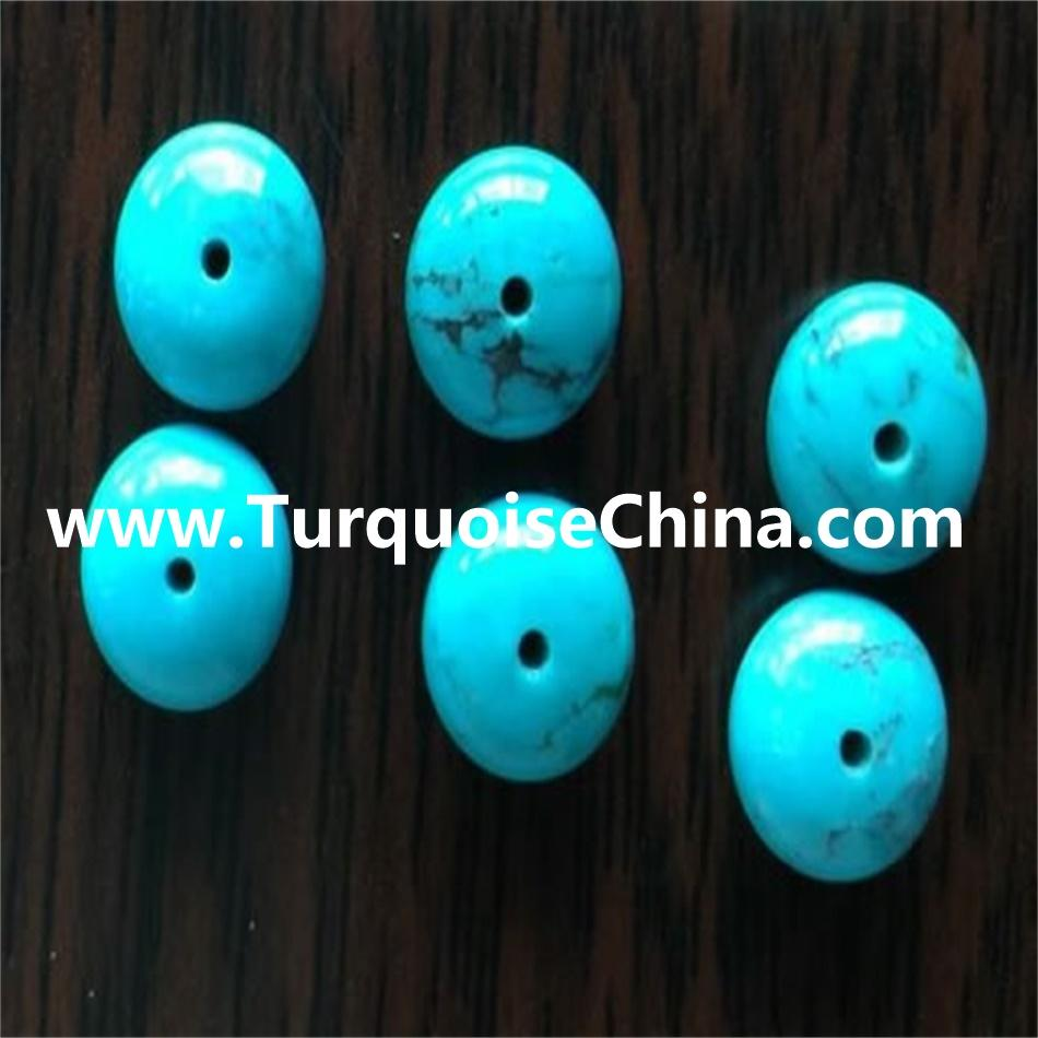 Naturally clean Turquoise Rondelle beads & clean turquoise Abacus Beads