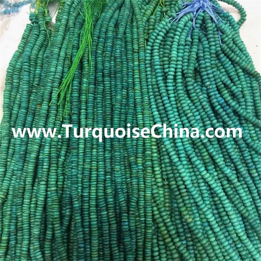 Turquoise beads flat,Natural turquoise Rondelle beads Natural Turquoise Abacus Beads