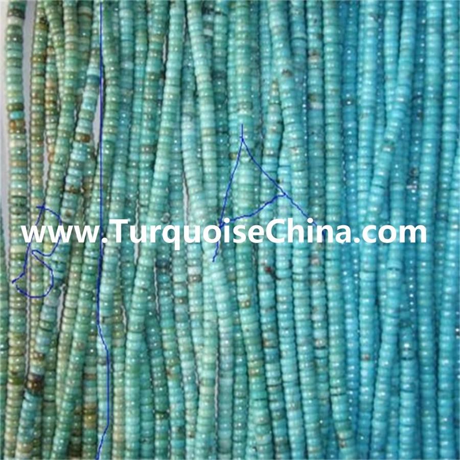 Turquoise gemstone Rondelle beads & turquoise gemstone Abacus Beads