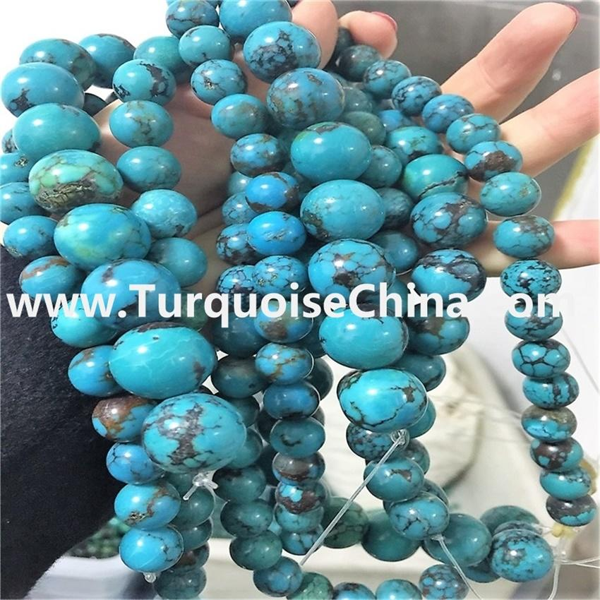 Genuine Kingman Turquoise round shape Beads 8mm to 30mm
