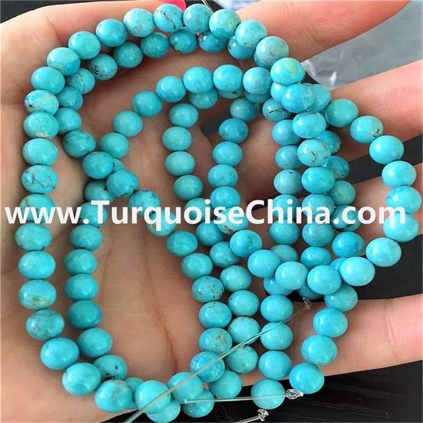 8mm Strand 16 Inch Round Gemstone Natural Stone Turquoise Beads