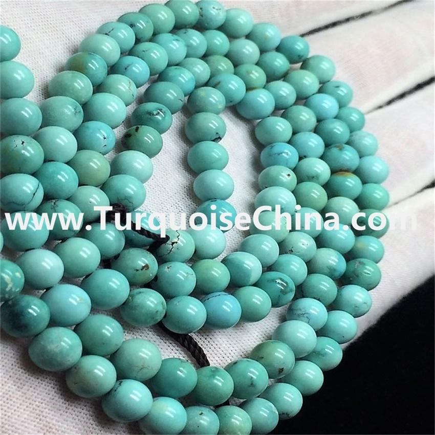 8mm Round Gemstone Natural Turquoise Beads Strand 108pcs Buddha beads