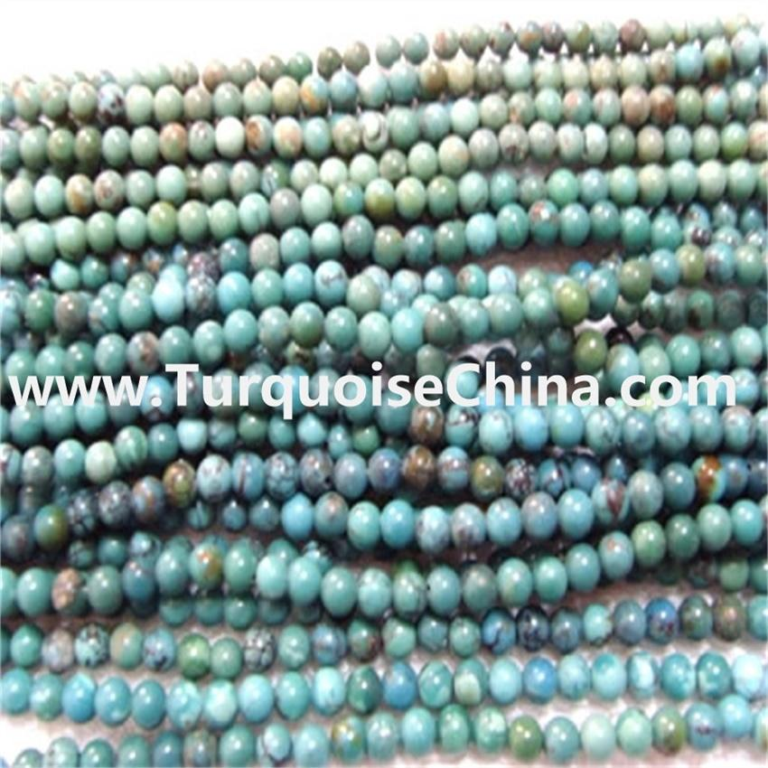Cheapest natural Chinese turquoise round beads wholesale