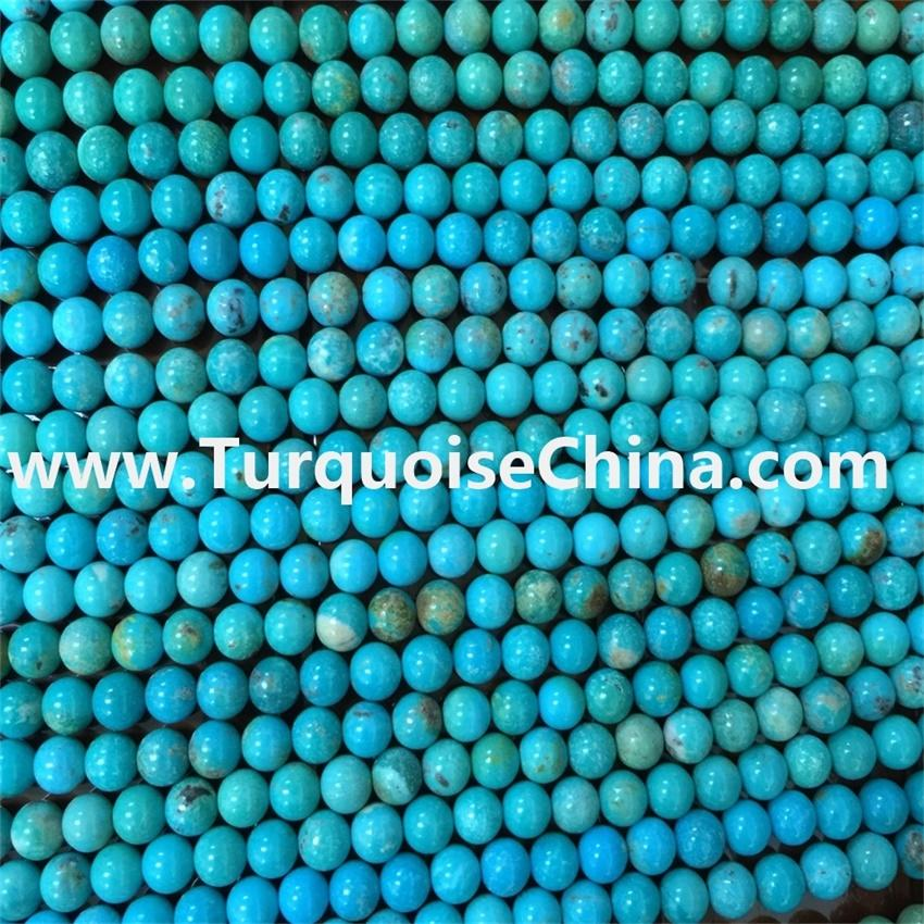 Wholesale Direct From factory natural turquoise round beads gemstones for jewellery