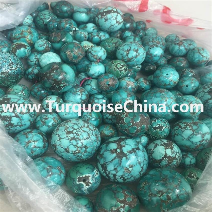 Orinigal geneine turquoise round beads