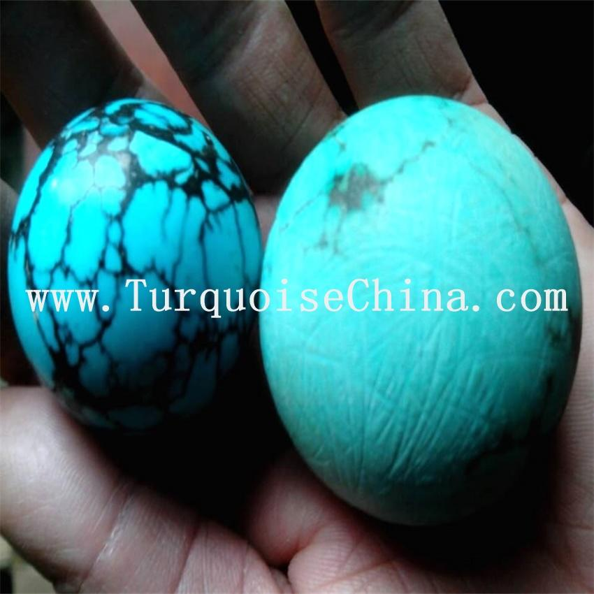 Hubei Tibet Turquoise Smooth Round Ball Sphere Loose Natural Gemstone Beads