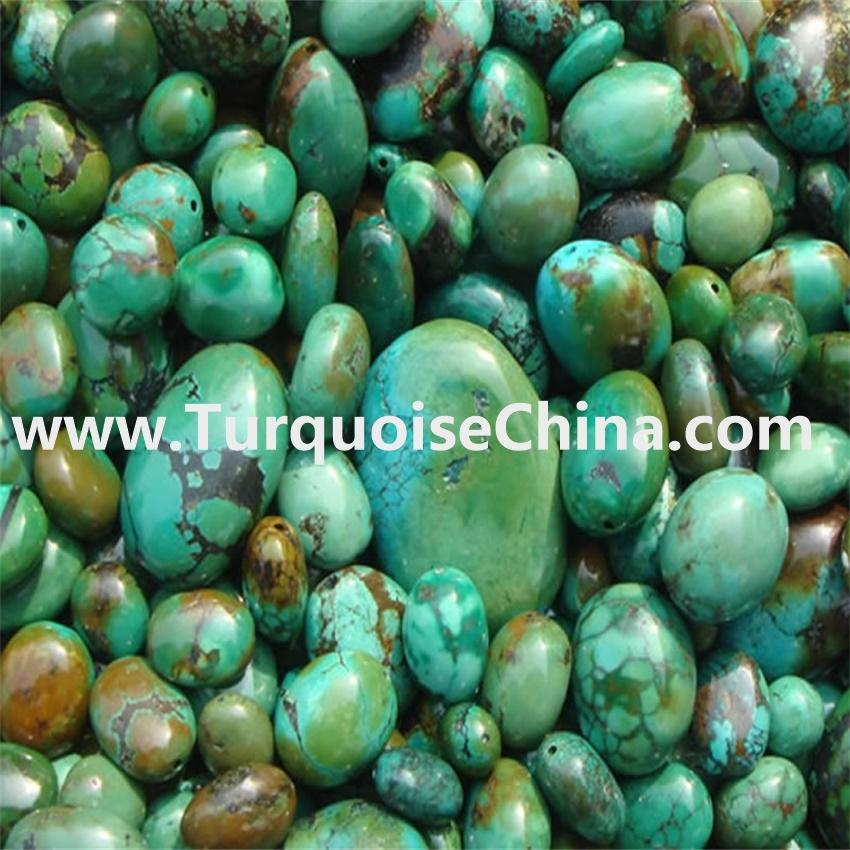 Wholesale orinigal and naturally Turquoise Round Oval beads Green Turquoise Beads jewelry