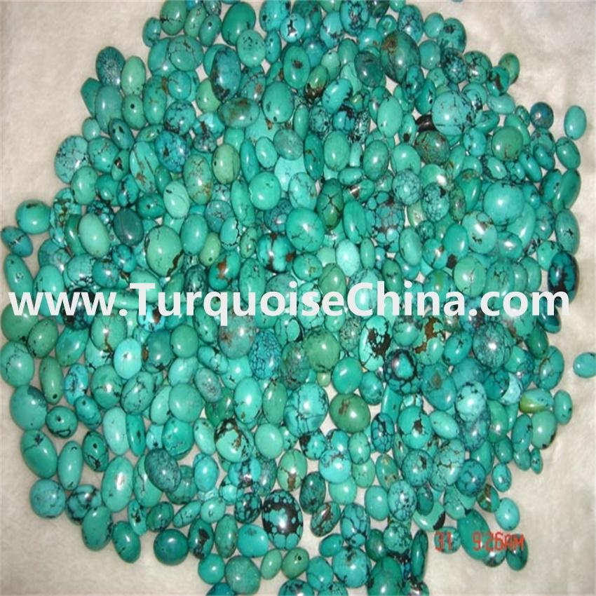 Stock natural turquoise oval beads and cheaper cost-price