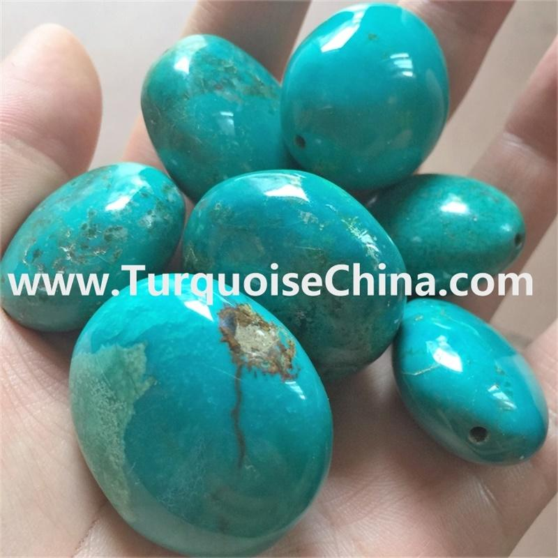 Blue Oval Real Turquoise Beads gemstone jewellery