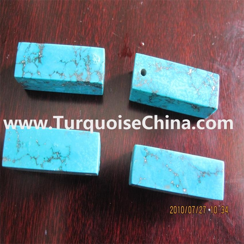 Authentic Turquoise Stone Cube Beads,Turquoise Square Brick Beads