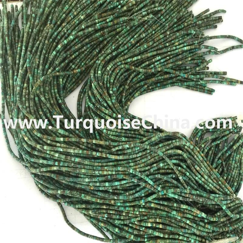 Genuine naturally Cylindrical Turquoise Heishi Beads 3mm 4mm 5mm wholesale
