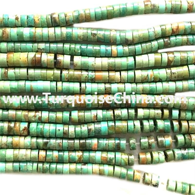 Kingman Turquoise Heishi Bead Strands Jewelry Making Supplies