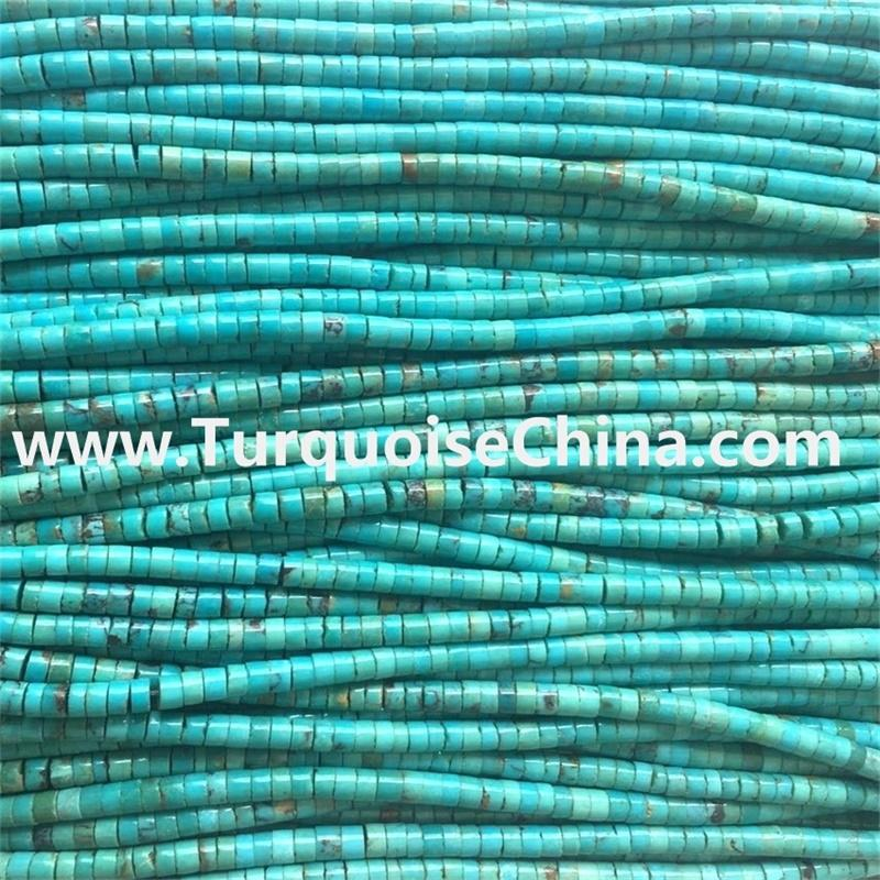 Naturally different size turquoise Heishi Beads gemstone