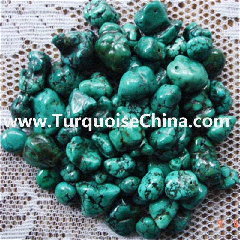 100% Naturally Turquoise Nugget beads (Large Hole) Various Sizes