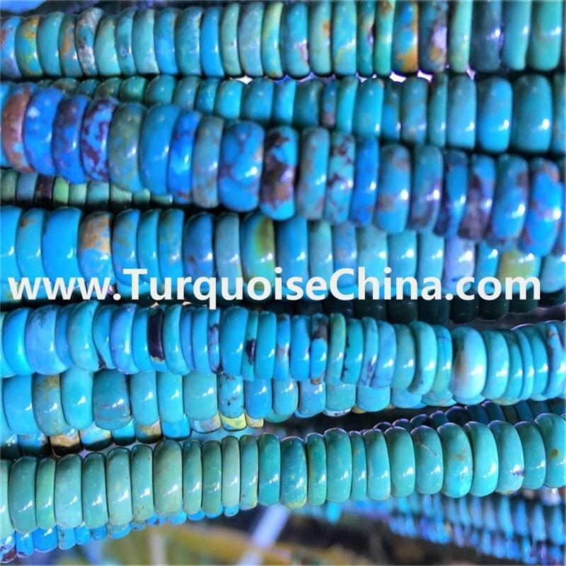 Sleeping Beauty Turquoise Beads Bule Color Barrel Tube Drum Beads