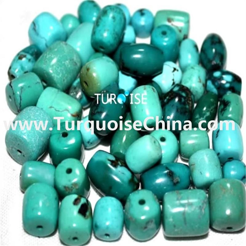 Natural Turquoise Beads drum Large Wheel Thick Drum Nugget Genuine Real Turquoise Gemstone Beads