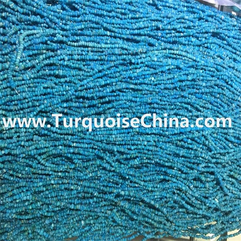 16 inch strings sleeping beauty turquoise flat chips nuggets beads necklace