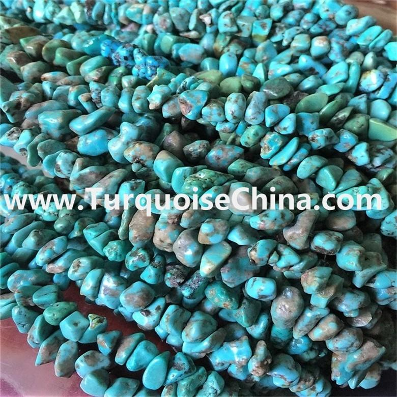 Turquoise Chips Natural Genuine Semi-precious Gemstone beads 5-7mm 32''