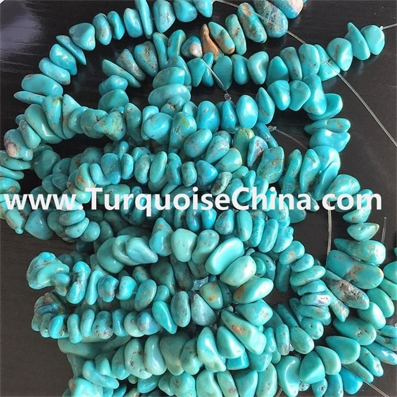 Kingman Mine Arizona Turquoise chips, Bulk Small Natural Turquoise Chip Stones