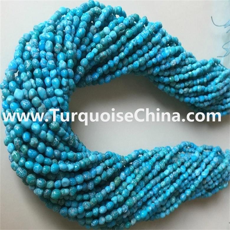 Electrolysis technology treatment turquoise chips beadswholesale