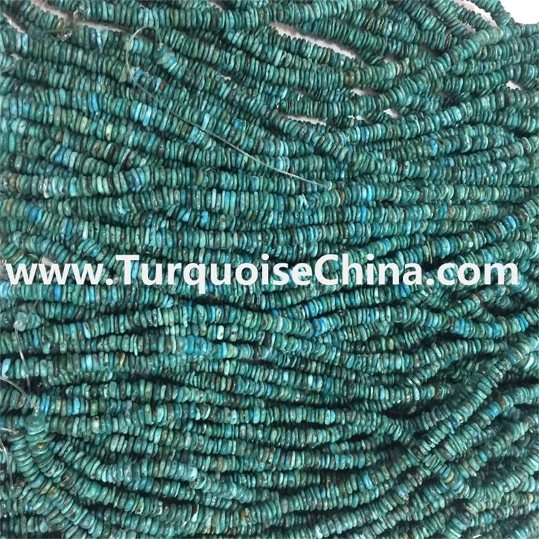 Dark blue Turquoise Chip Green Turquoise Beads