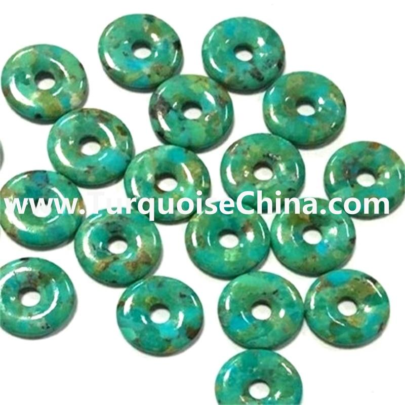 Genuine Natural American Turquoise Circle Beads