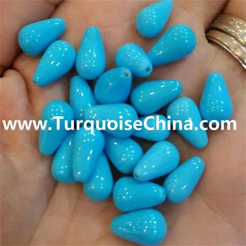 Natural Gemstone Turquoise Teardrop Beads for jewelry making