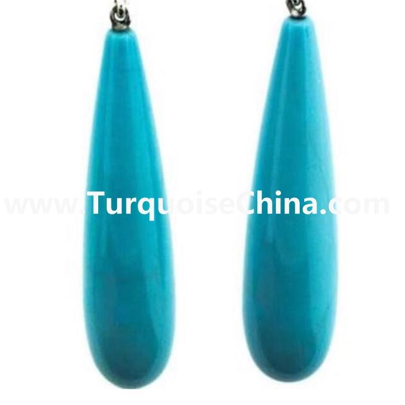 Blue Natural Genuine Gemstone Turquoise Teardrop Beads Jewelry