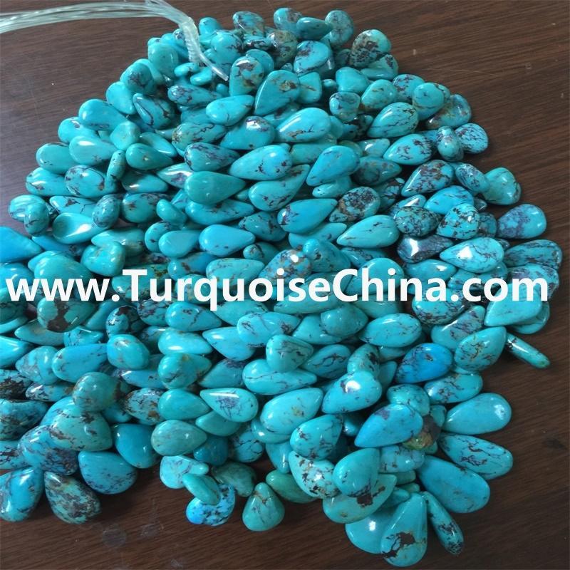 Sleeping Beauty Sleeping Beauty Turquoise Teardrop Beads 10x6 To 8x4 mm