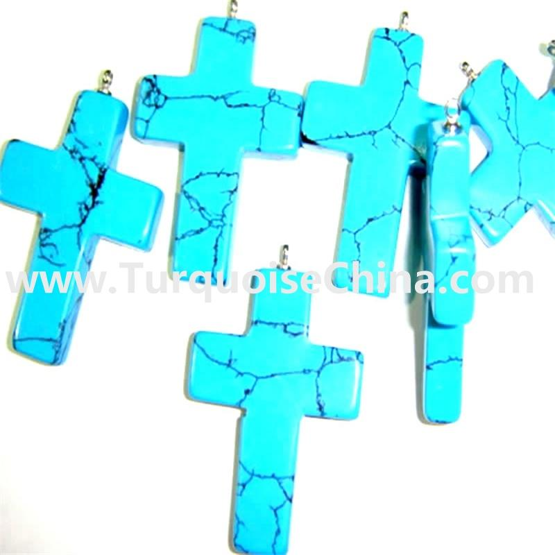 Genuine Turquoise Cross Beads, Cross Beads Wholesale
