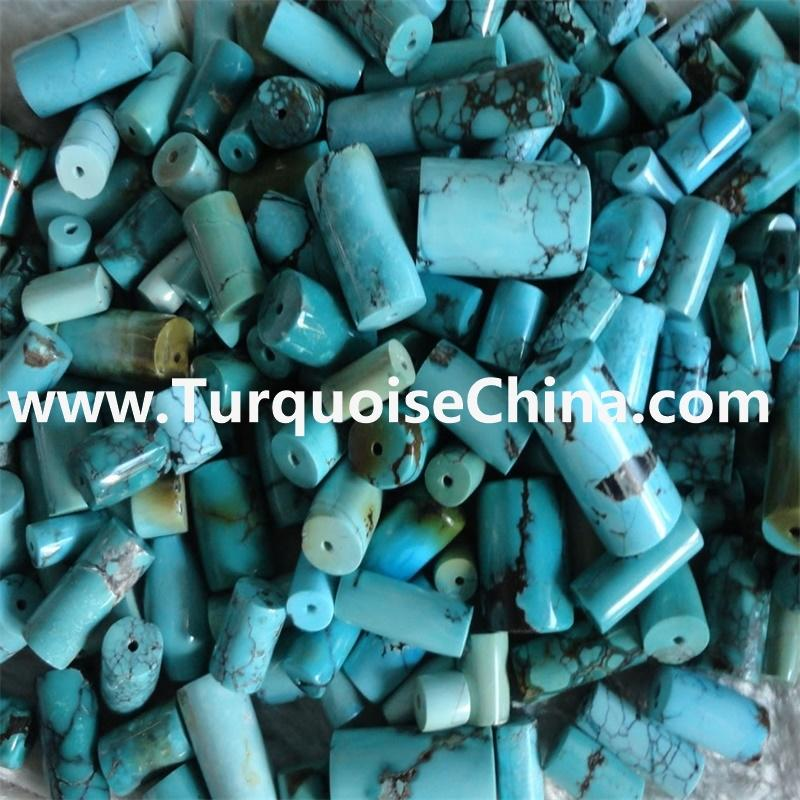 Natural Turquoise Beads 12mm Large Wheel Thick Drum Nugget Genuin Turquoise Beads