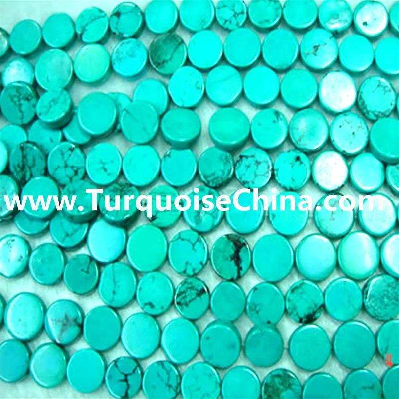 Naturally Turquoise Coin Beads & Genuine Gemstone Turquoise Button Beads