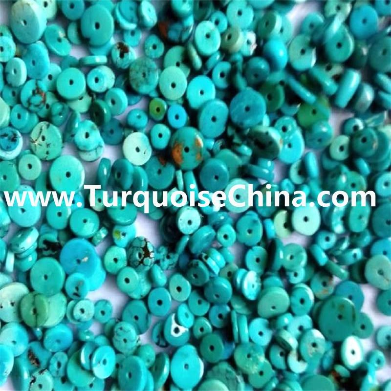 4mm to 14mm Turquoise Coin Beads - Turquoise Donut Beads Gemstone Beads