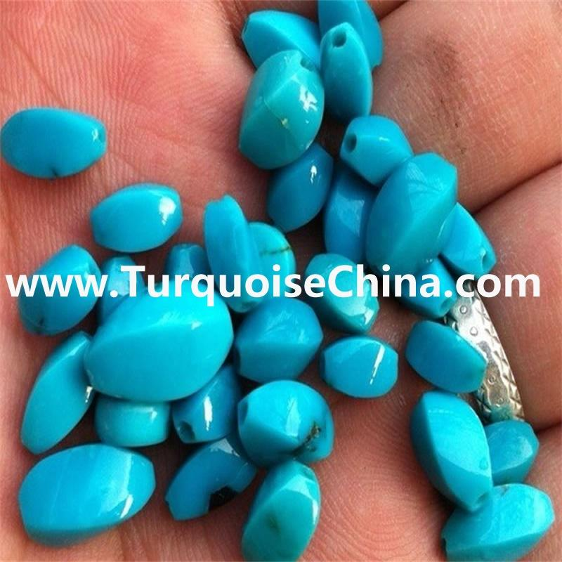 BlueTurquoise Pumpkin Beads Loose Beads Charm Findings