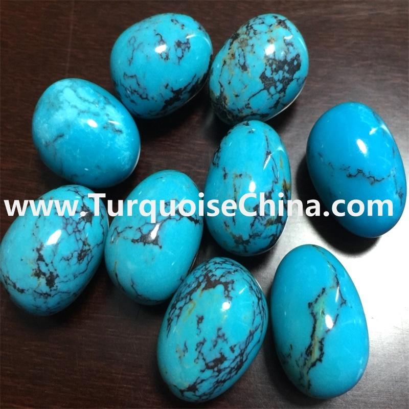 Stablish sleeping beauty turquoise gemstone egg beads