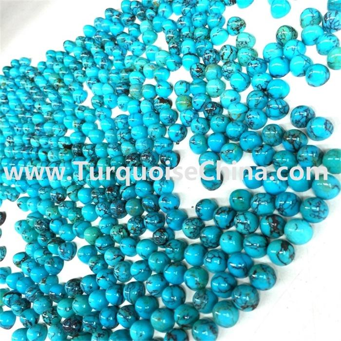 Unique Blue Less Matrix Turquoise Bullet Beads Gemstone Jewelry