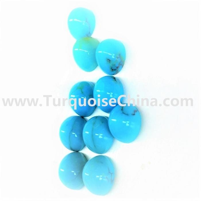 Kingman Gemstone Turquoise Bullet Beads For Making Jewelry