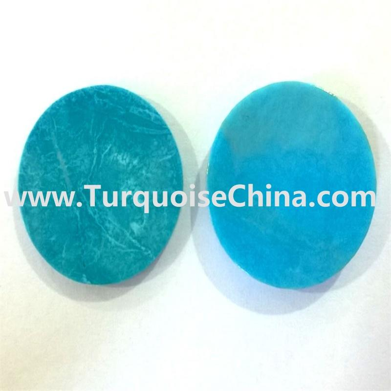 Turquoise Slice Beads,Sky Blue Drilled Slab BeadsPendants DIY Necklace Jewelry