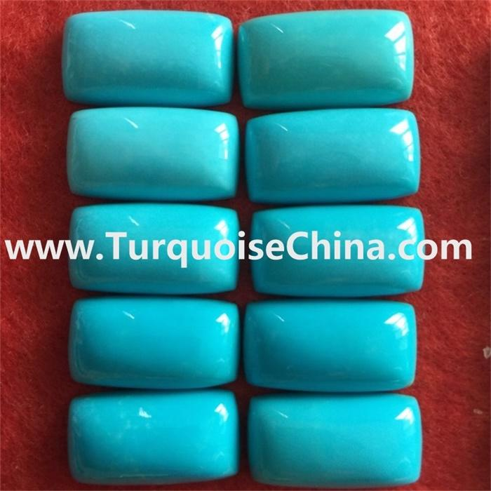 Genuine Sleeping Beauty Turquoise Square Cushion gemstone for jewelry