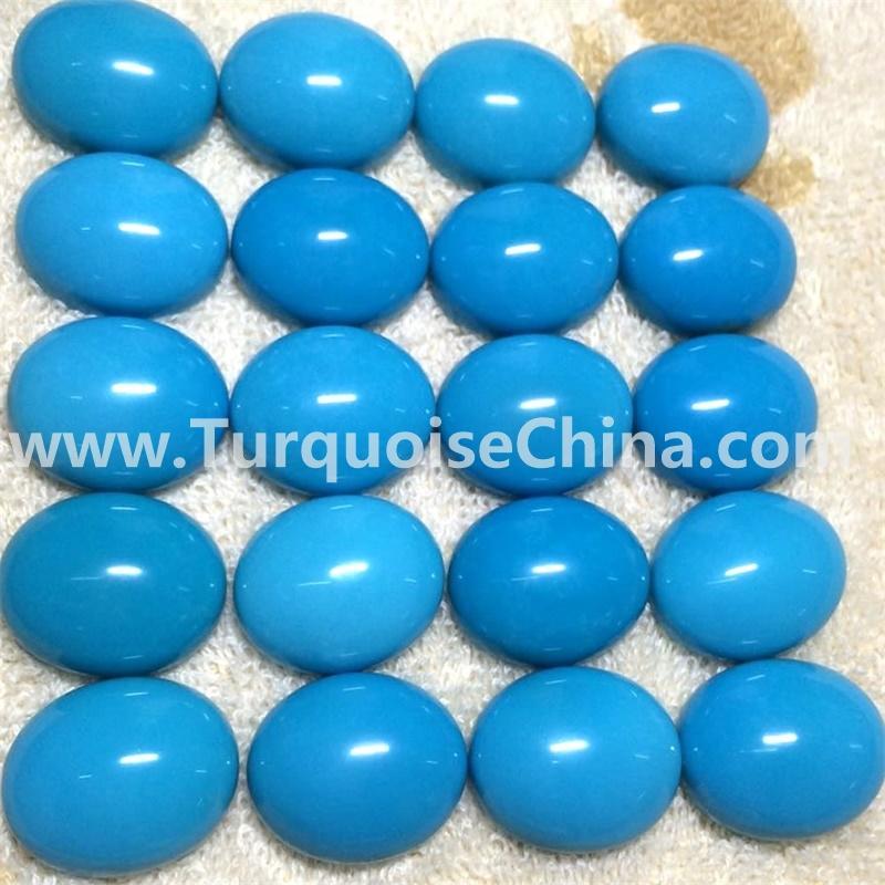 Clean sleeping beauty turquoise oval cabochon sky blue semi precious gemstone jewelry